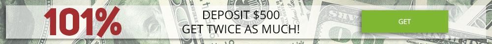 Tradable Bonus 101%